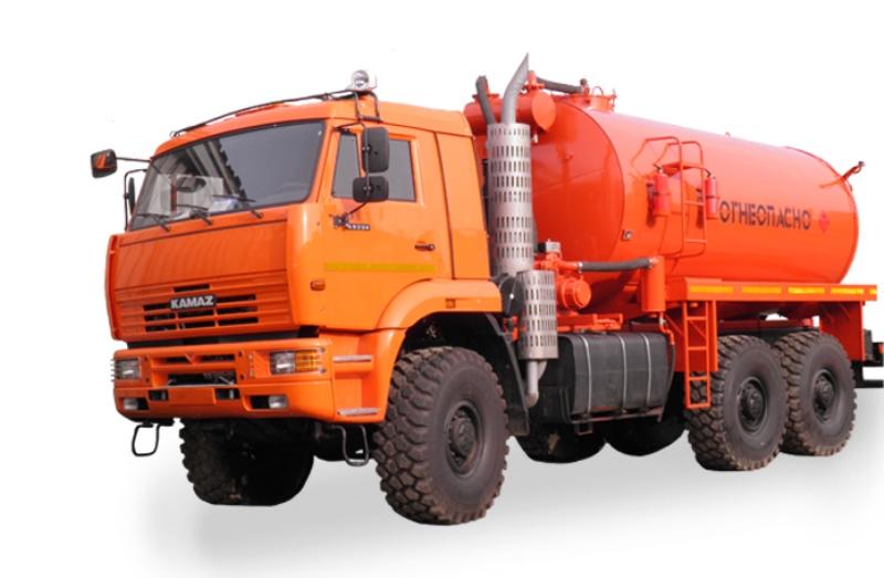 Автоцистерна для сбора нефтепродуктов АКН-15 «Камаз 65224»