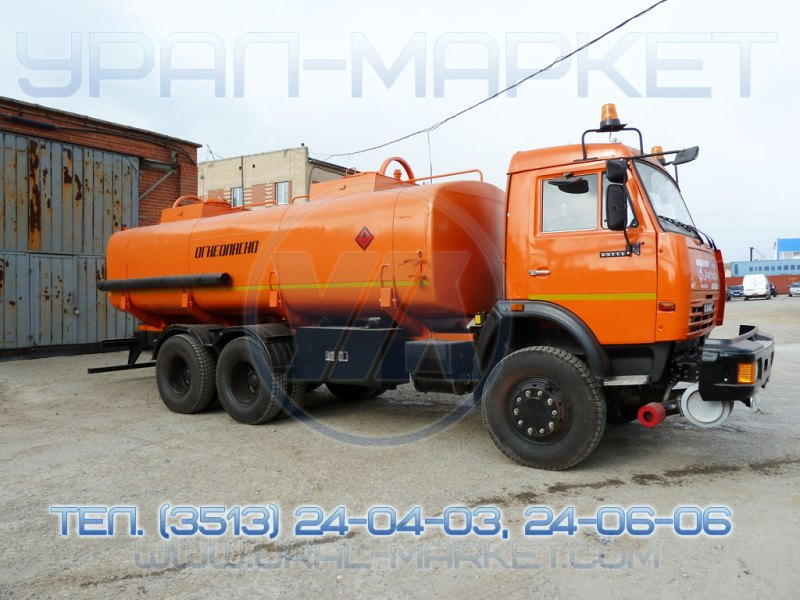 Автотопливозаправщик АТЗ 15 «Камаз 65111», общий вид